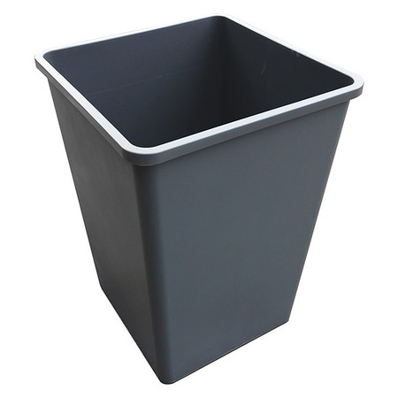 35 gal. Gray Square Trash Can