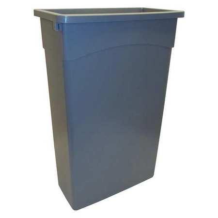 23 gal.  Rectangular  Gray  Trash Can