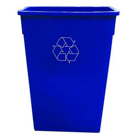23 gal. Blue Rectangular Trash Can