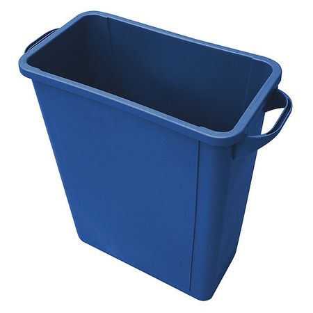 16 gal.  Rectangular  Blue  Trash Can