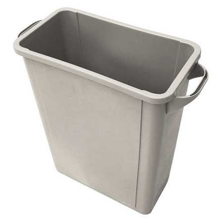 8 gal.  Rectangular  Beige  Trash Can