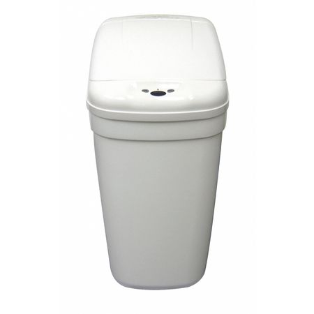Wastebasket, Rectangular, 8-1/2 gal., White