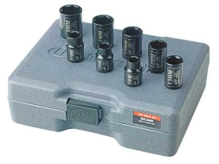 Impact Socket Set, 3/8 In Dr, 8 pc