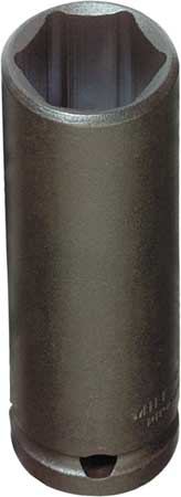 Impact Socket, 1/2 In Dr, 1-1/8 In, 6 pt