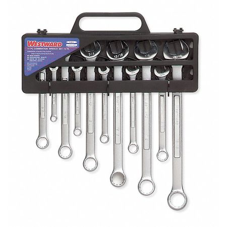 Combination Wrench Set, Satin, 7-19mm, 11Pc