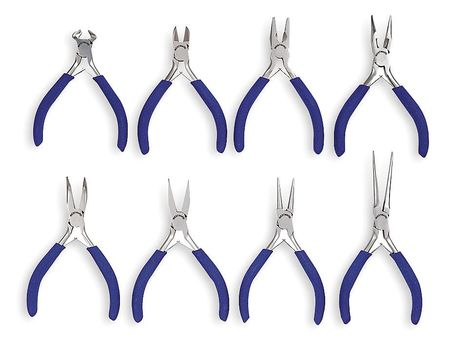 Precision Plier Set, Dipped, 8 Pcs.