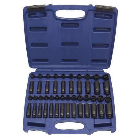 "Impact Socket Set,  1/4"" Dr,  48 pc"