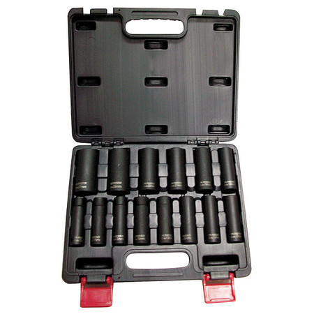 "Impact Socket Set,  1/2"" Dr,  14 pc"