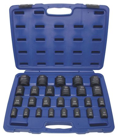 "Impact Socket Set,  1/2"" Dr,  26 pc"