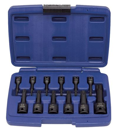 "Impact Bit Socket Set, 1/4"",  3/8"",  1/2"""