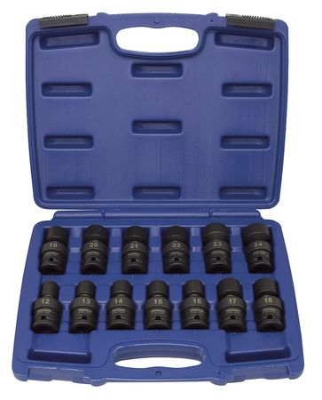 "Impact Socket Set,  1/2"" Dr,  13 pc"