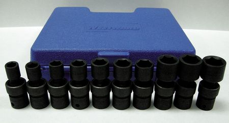 Flex Impact Socket Set, 3/8 in. Dr, 10 pcs