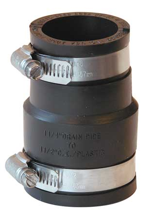 Flexible Coupling, Pipe Size 1-1/2x1-1/4""