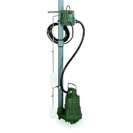 "1/2 HP 1-1/2"" High Temp Submersible Sump Pump 115V Mechanical"