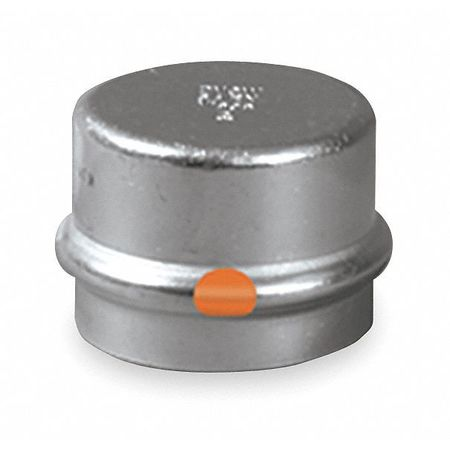 "1-1/4"" Press SS Cap"