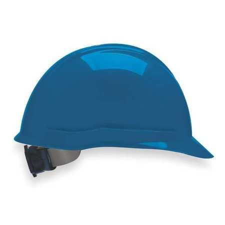 Hard Hat, FrtBrim, Slotted, 4Rtcht, Blue