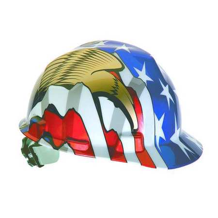 Hard Hat, FrontBrim, Sltd, USFlag w/2Eagles