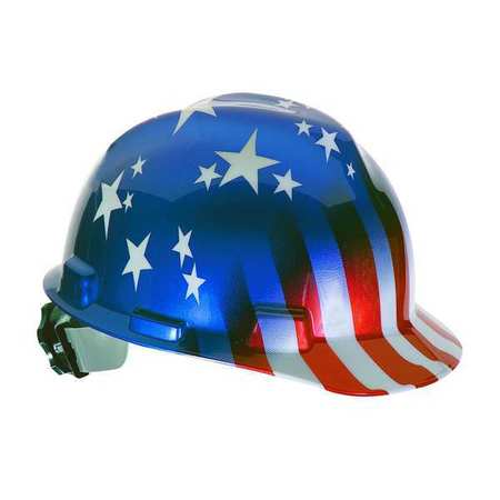 Hard Hat, FrtBm, Slttd, USFlagStars/Stripes