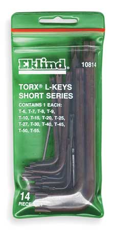 Torx Key Set, Pieces 14, T11