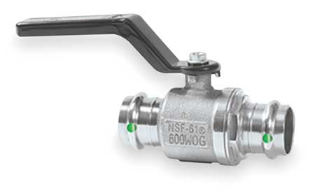 "3/4"" Press Stainless Steel Ball Valve Inline"