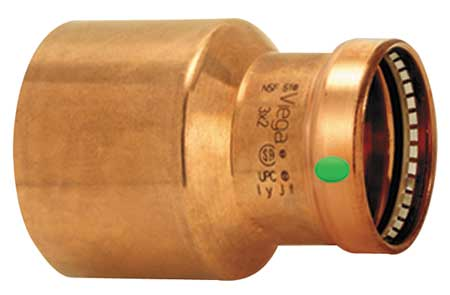 "2-1/2"" FTG x 1-1/4"" Press Copper Reducer"