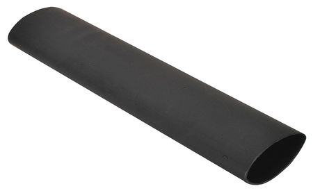 Shrink Tubing, 2.0in ID, Black, 12in, PK3