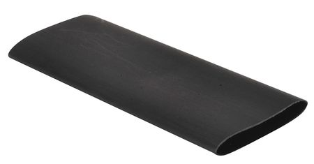 Shrink Tubing, 1.5in ID, Black, 6in, PK4