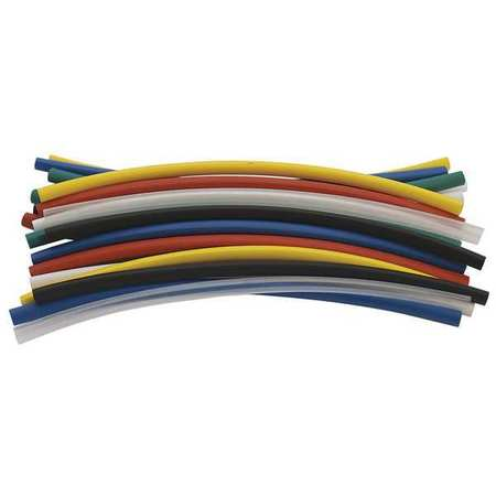 Shrink Tubing, 0.187in ID, Colors, 6in, PK21