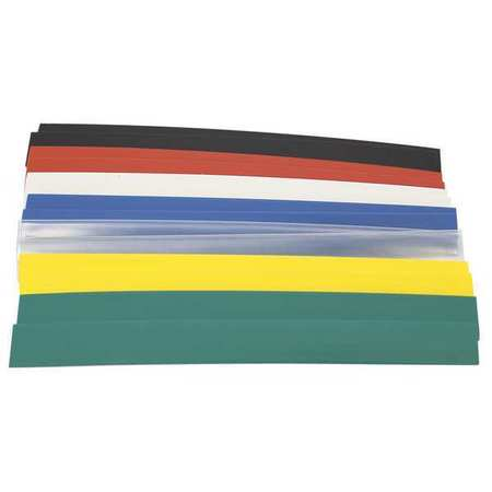 Shrink Tubing, 0.375in ID, Colors, 6in, PK14