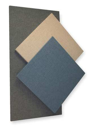 Acoustic Panel,  Fabric,  Blue,  8 sq. ft.