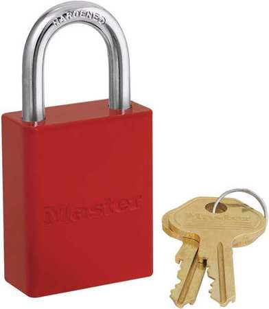 "Lockout Padlock, KD, Red, 1-7/8""H"