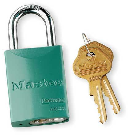 "Lockout Padlock, KA, Green, 1-7/8""H"