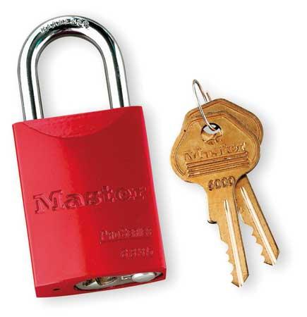 """Lockout Padlock, KA, Red, 1-7/8""""H"""