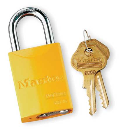 "Lockout Padlock, KA, Yellow, 1-7/8""H"