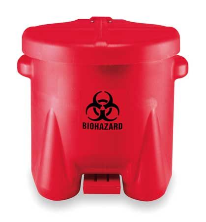 Biohazard Step On Waste Container