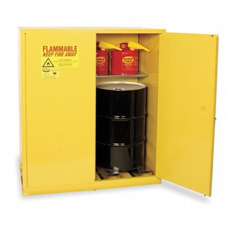 Flammable Cabinet, Vertical, 110 Gal., YLW