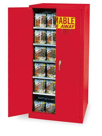 Paints and Inks Cabinet, 96 Gal., Red