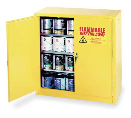 Paints and Inks Cabinet, 40 Gal., Yellow