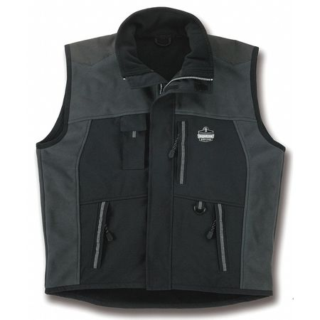 Thermal Vest, M, Nylon, Black, 28-1/2 In. L