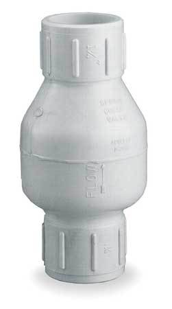 Spring Check Valve, PVC, 1/2 In., SLIP