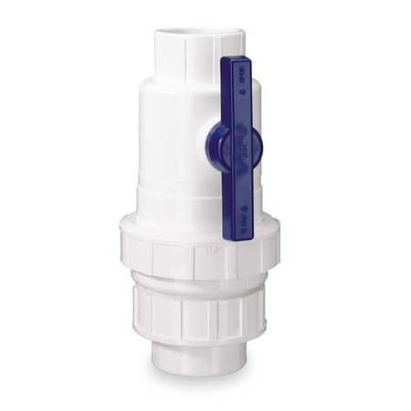 Check Valve with Ball Valve, PVC, 2 In.