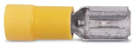 Female Disconnect, Yellow, 12-10AWG, PK50