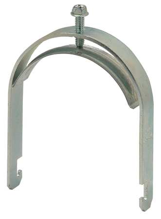 Conduit Clamp, 4 In, Silver