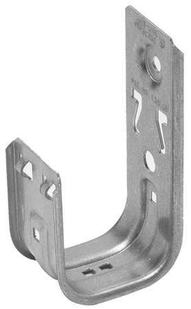 J-Hook, Wall Mount, 4In Max Cap