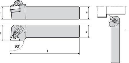 External Turning Holder, TTJNR16-4D