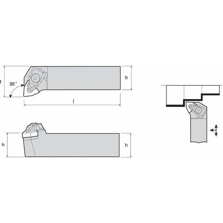 External Turning Holder, TWLNR16-4D