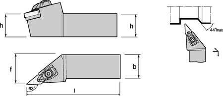 External Turning Holder, TVJNR16-3D