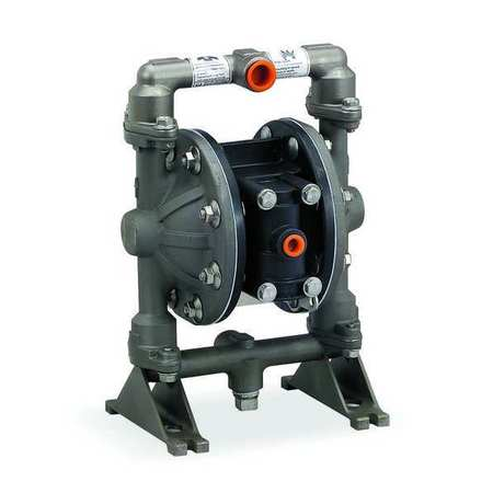 "1/2"" Stainless Steel Air Double Diaphragm Pump 12 GPM 200F"