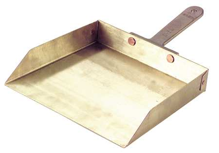 Hand Held Dust Pan, Nickel/Alum./Bronze