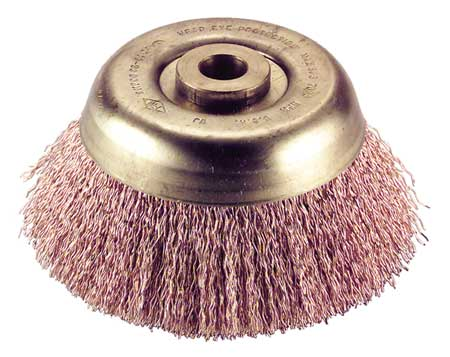 "Crimped Wire Cup Wire Brush,  4"",  0.014"""